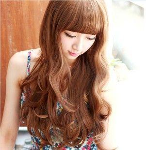 Женский парик прокрутки пушистые парик девушки длинные вьющиеся волосы парик женский груша