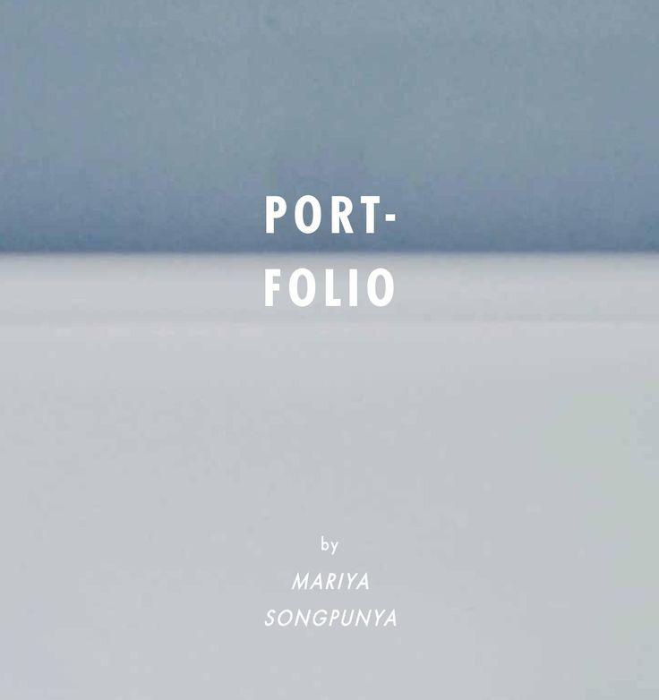 ISSUU - Portfolio by Mariya Songpunya
