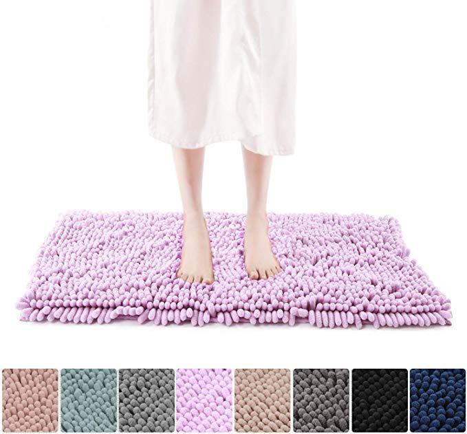 Amazon Com Freshmint Chenille Bath Rugs 1 65 Piles Soft Fluffy Super Absorbent Bath Mats Plush Shag Rug Non Slip Car Chenille Bath Rugs Bath Rug Bath Rugs
