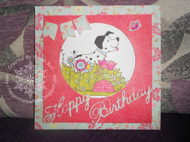 Designed by Sarah Bell - Dalmation in Flowers Digi-Stamp