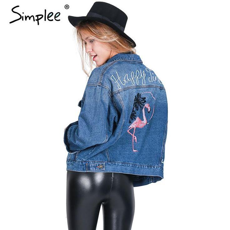 Купить товарSimplee Вышитые короткие джинсовые куртки женщин 2016 Зима дамы с длинным рукавом куртки пальто Мода женский джинсовая куртка и пиджаки в категории  на AliExpress.                                                                                ПРИМЕЧАНИЕ:  1. Пожалуйста, строго