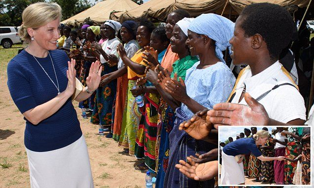The Countess of Wessex tours a Malawi primary school