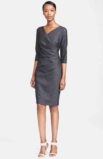 Max Mara 'Bronzo' Woven Sheath Dress available at #Nordstrom -- Gorgeous.