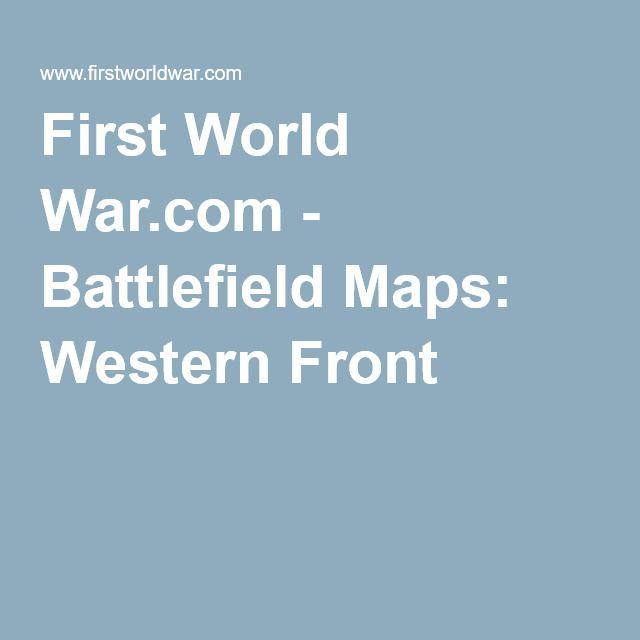 First World War.com - Battlefield Maps: Western Front