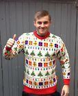 XMAS CHRISTMAS JUMPER SWEATER LIGHTS PRESENT NOVELTY MENS LADIES S M L XL XXL http://stores.ebay.co.uk/Crystal-Knitwear-Online?_rdc=1