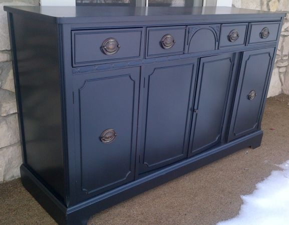 Indianapolis Black Restoration Hardware Style Buffet Sideboard Server 375
