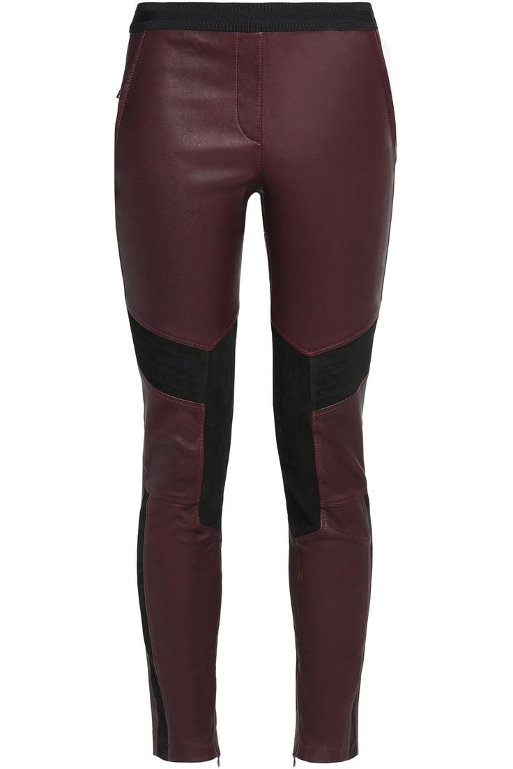 Aberford suede-paneled leather leggings | BELSTAFF | Sale up to 70% off | THE OUTNET