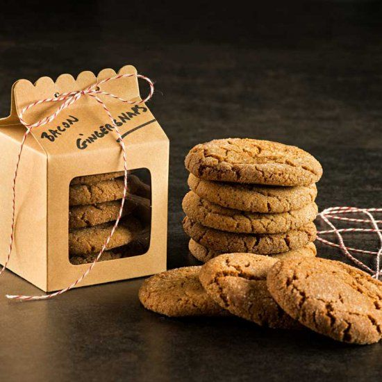 ... fat sounds risky, but you'll pronounce these Bacon Fat Gingersnaps