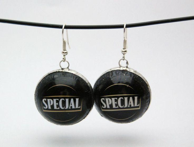 Kolczyki z kapsli Specjal #upcykling | http://dekoeko.com/product/kolczyki-z-kapsli-specjal/ | Kup na www.dekoeko.com