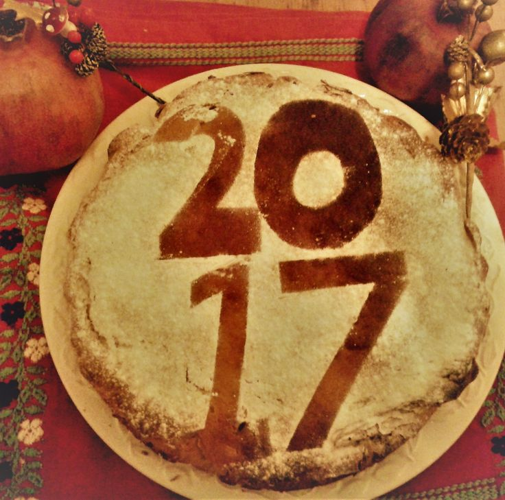 Happy New Year with a traditional Greek vasilopita!