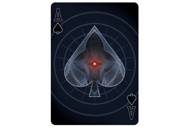 An almost hypnotizing Bicycle Deck by Collectable Playing Cards