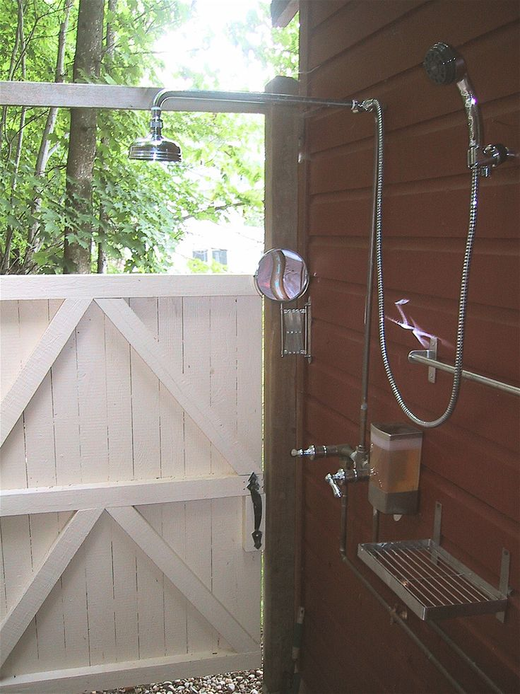 Outdoor shower (for when we get to move back someplace with a backyard pool!)