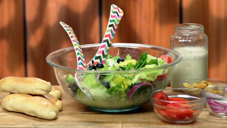 Make your own version of Olive Garden's salad and breadsticks