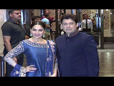 Madhuri Dixit with husband at Preity Zinta Gene Goodenough's wedding reception.