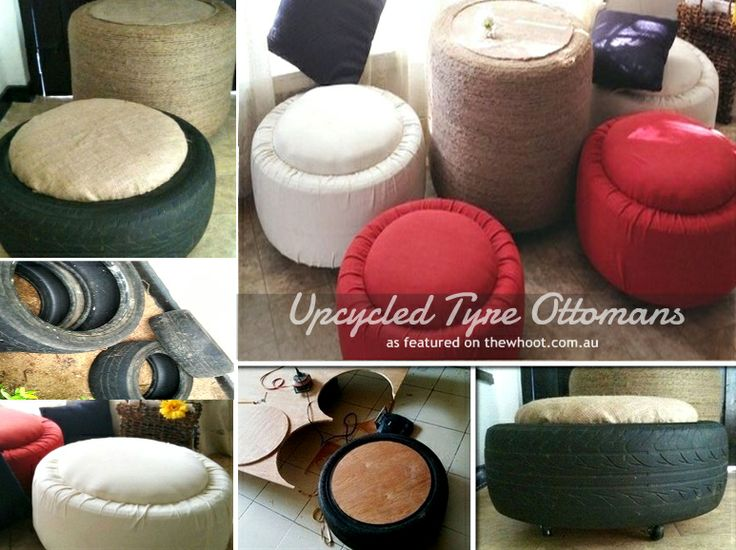 Upcycled Tyre Ottomans