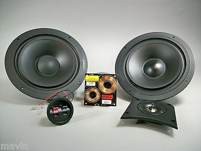 "2 Way Speaker Kit Dual 8"" Woofers for Clean Tight Bass 8 ohm Center or Bookshelf"