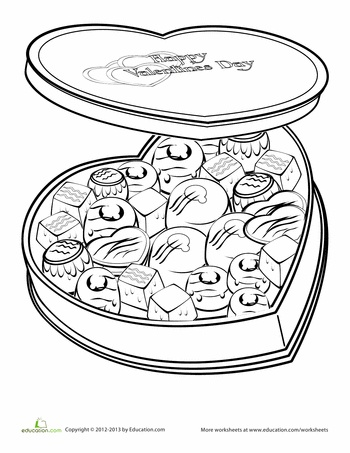 Valentines Coloring Page Happy HeartColoring