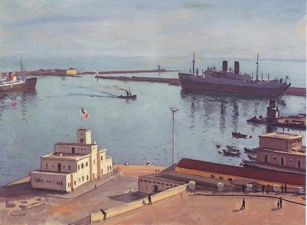 Albert Marquet fut attiré lui aussi par la lumière de l'Algérie. Selon Wipikédia il peignit surtout ses ports durant ses séjours. Grace à la gentillesse d' Arioul , voici quelques photos...