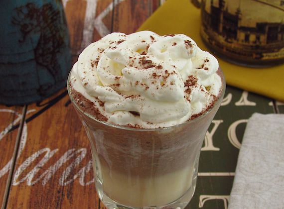 Mango and chocolate milk shake   Food From Portugal. A delicious milk shake and with excellent presentation, made with mango, chocolate powder, milk, honey and sugar. http://www.foodfromportugal.com/recipe/mango-chocolate-milk-shake/