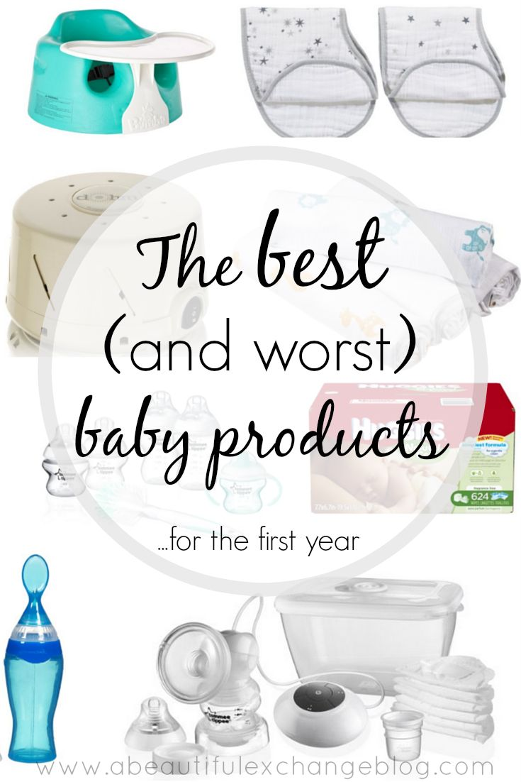 The best and worst baby products for the first year! Great list of ideas to add to baby registry! Baby registry must haves!