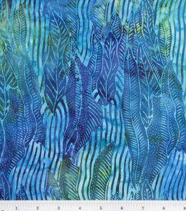 Legacy Studio Indonesian Batiks-Jungle Leaf Aqua