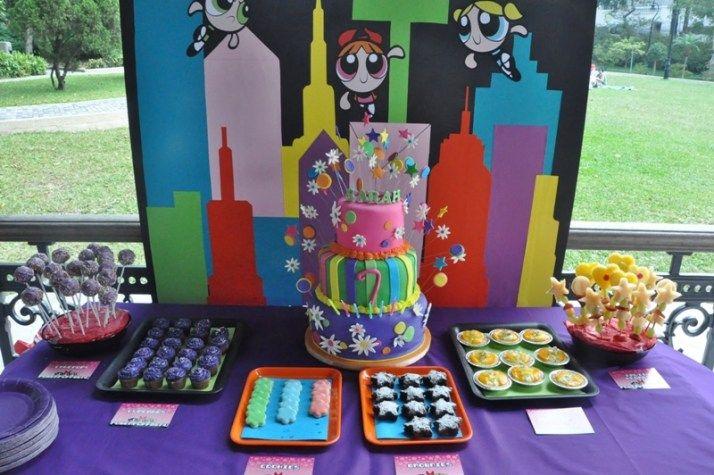 THE POWERPUFF GIRLS BIRTHDAY PARTY IDEIAS...IDEIAS DE DECORAÇÃO DE FESTA TEMA AS MENINAS SUPER PODEROSAS