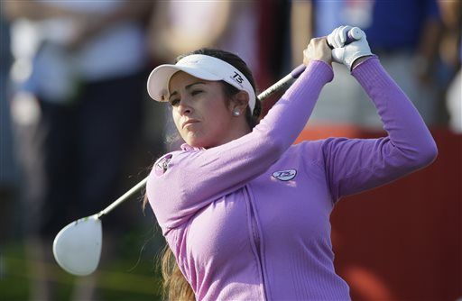 Gerina Piller drives on the 11th hole during the first round of the Meijer LPGA Classic golf tournament at Blythefield Country Club, Thursday, Aug. 7, 2014 in Belmont, Mich. (AP Photo/Carlos Osorio) ▼7-10Aug2014AP|LPGA TOUR 8/7/2014-8/10/2014 http://bigstory.ap.org/photo-gallery/lpga-tour-872014-8102014 #Gerina_Piller