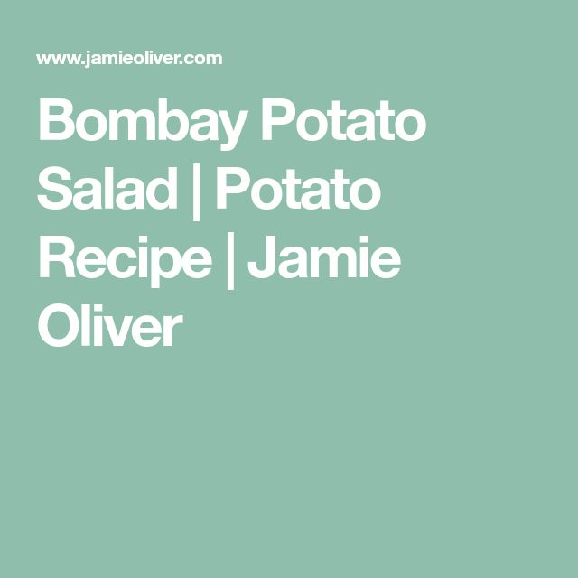Bombay Potato Salad | Potato Recipe | Jamie Oliver