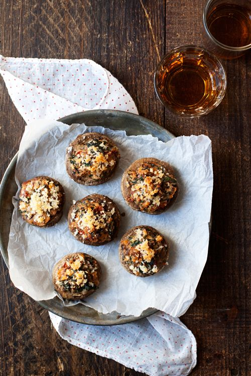 Sausage, Spinach, and Sundried Tomato Stuffed Mushrooms