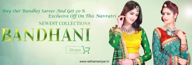 ‪#‎Navratri‬ Special, ‪#‎Exclusive‬ 20 % Off On ‪#‎Bandhej‬ ‪#‎Sarees‬ Click here to ‪#‎shop‬ : http://bit.ly/1LFi3nQ ‪#‎WhatsApp‬ Us To Buy On : 093744 77776