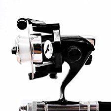 Freehawk® Portable Telescopic Mini Pen Fishing Rod Mini Aluminum Pocket Pen Carbon Fiber Fishing Pole Travel Fishing Rod Pocket Sea Rods ISO Fishing Rods + 2000 Spinning Fishing Reel (Black)