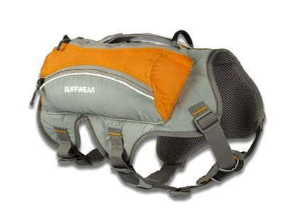 Ruffwear Singletrak Pack. Great for longer hikes, runs and bike rides. Comfortable and functional.
