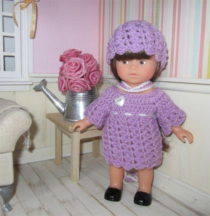 """113- FICHE PATRON CROCHET Ensemble """"Mila"""" pour poupée mini corolline : Jeux, jouets par atelier-crochet"""