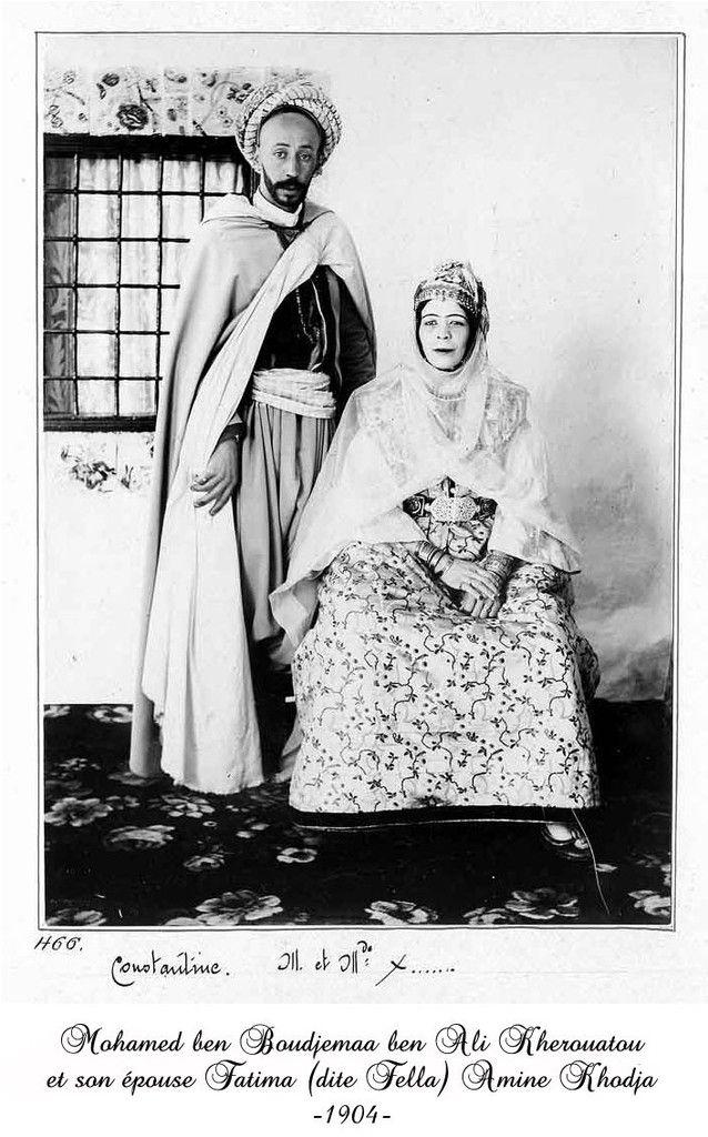 Algerian couple of Constantine in 1904