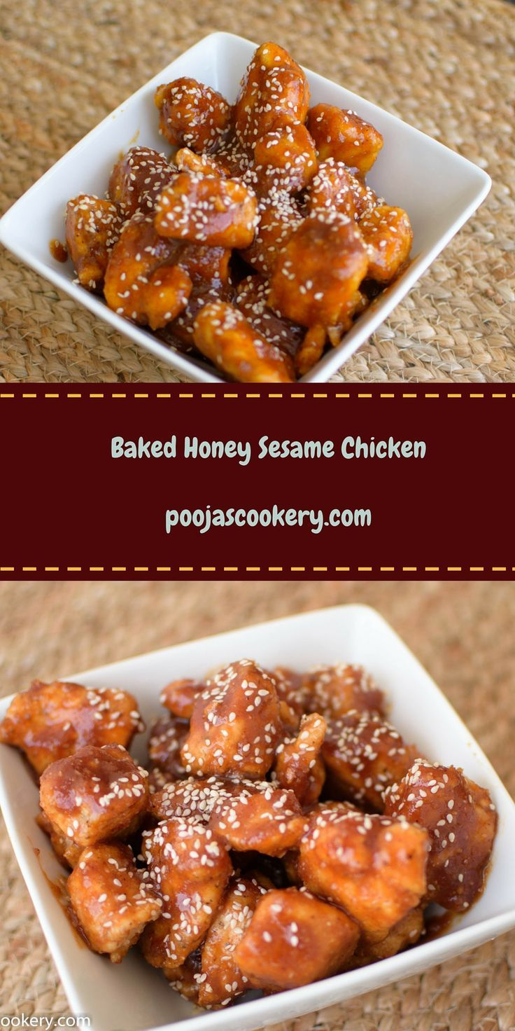 Honey Sesame Chicken is mostly cooked in Chinese Cuisines where chicken pieces are de-bonned, battered and then deep fried. The sauce is prepare from corn starch, vinegar, chicken broth , and honey. While serving, crispy fried chicken is coated with this