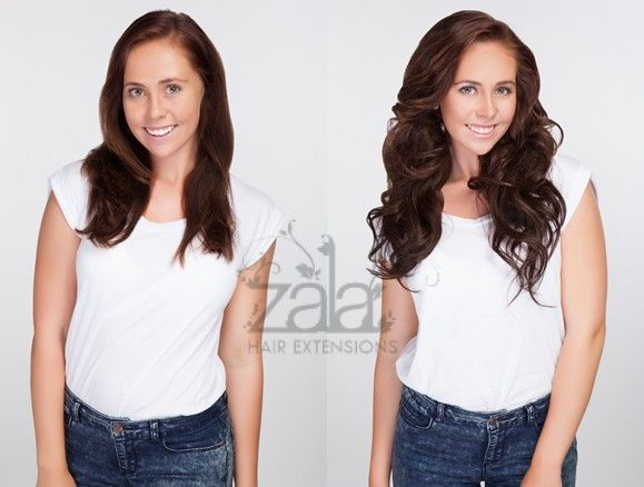 22 best hair extension options images on pinterest blonde hair before and after zala dark choc hair extensions model is wearing 20 inch 9 piece set pmusecretfo Gallery