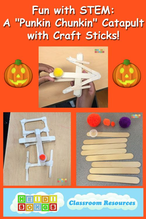 Fun with STEM: A Punkin Chunkin Catapult with Craft Sticks!