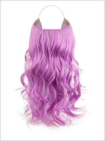 "HH Flip-In Extensions (Curly) - 18"" Heat-Friendly Fiber (PURPLE ORCHID) 100g"