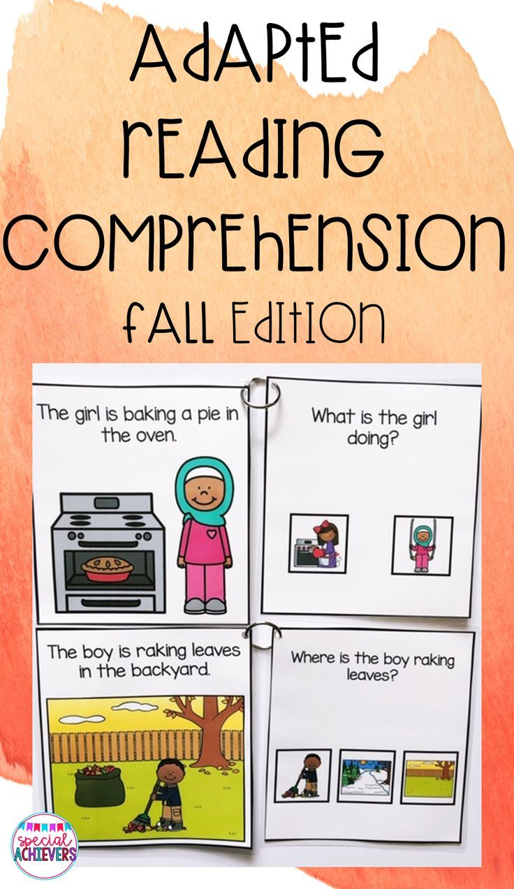 Adapted Reading Comprehension Fall Reading Comprehension Comprehension Special Education Resources [ 1273 x 736 Pixel ]