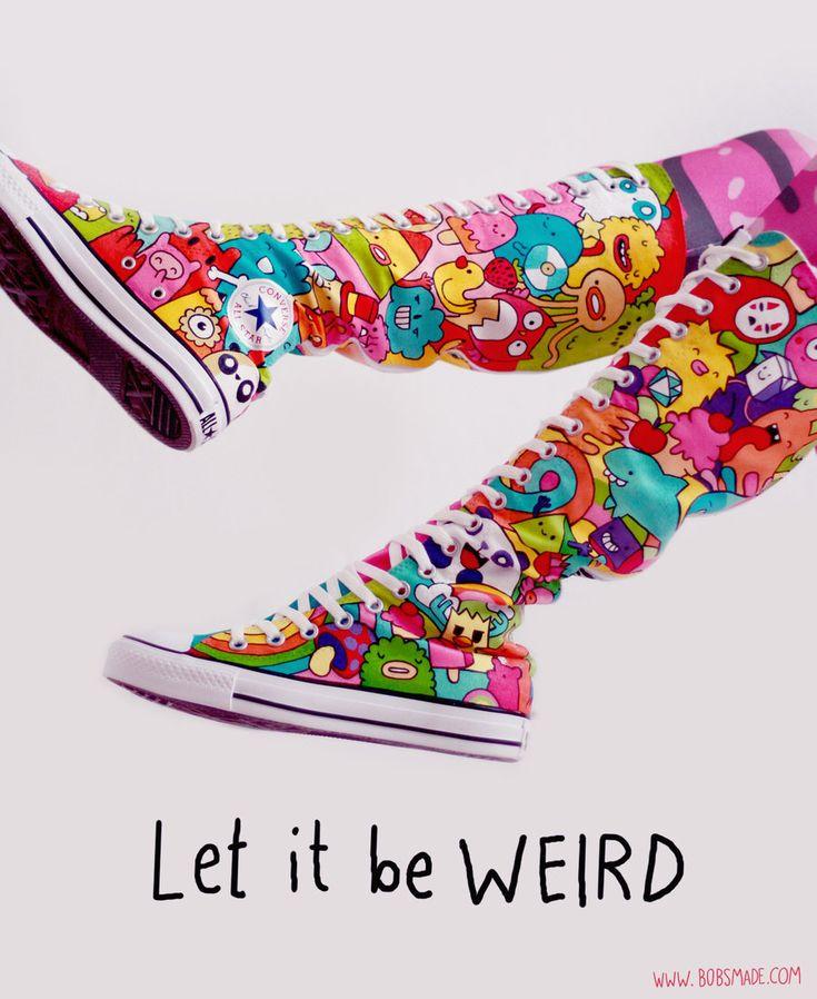 Be WEIRD Converse Boots by Bobsmade.deviantart.com on @deviantART