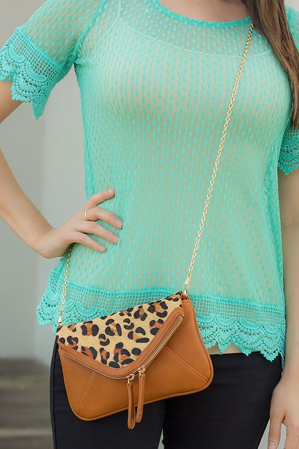 the cheetah isn't my style at all, but I like the design/shape of this crossbody purse