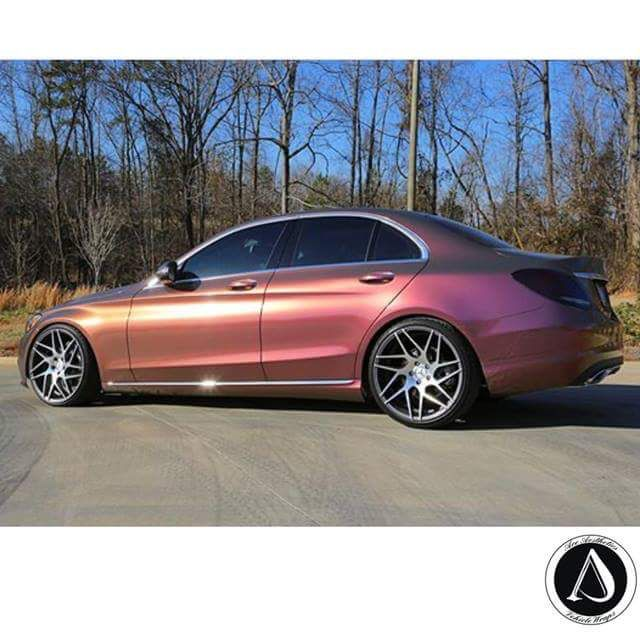 Look At This Benz Wrapped In Orafol Shift Effect Aubergine
