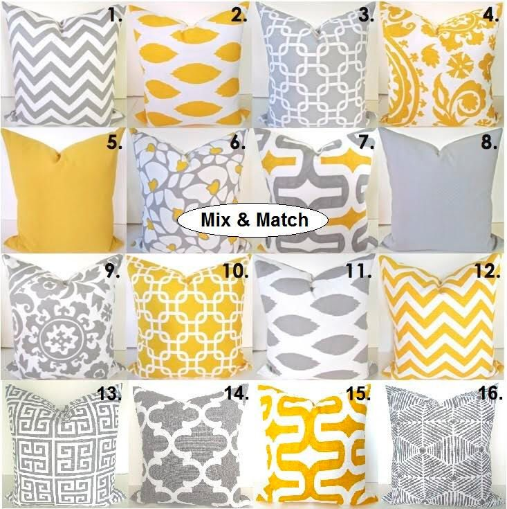 YELLOW PILLOWS Yellow Pillow Covers Gray Throw Pillows Yellow Pillow Covers Grey Pillows Sale. pillow shops 24x24 Euro Shams .All Sizes. by SayItWithPillows on Etsy https://www.etsy.com/listing/166826346/yellow-pillows-yellow-pillow-covers-gray
