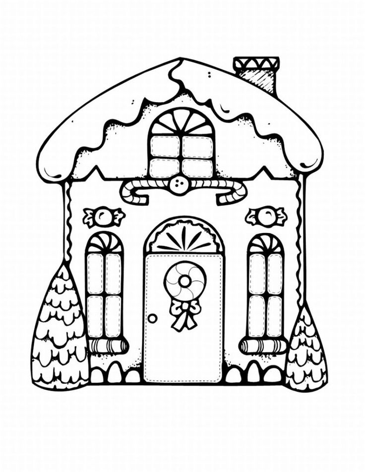 gingerbread house coloring in pages - Gingerbread Man House Coloring Pages
