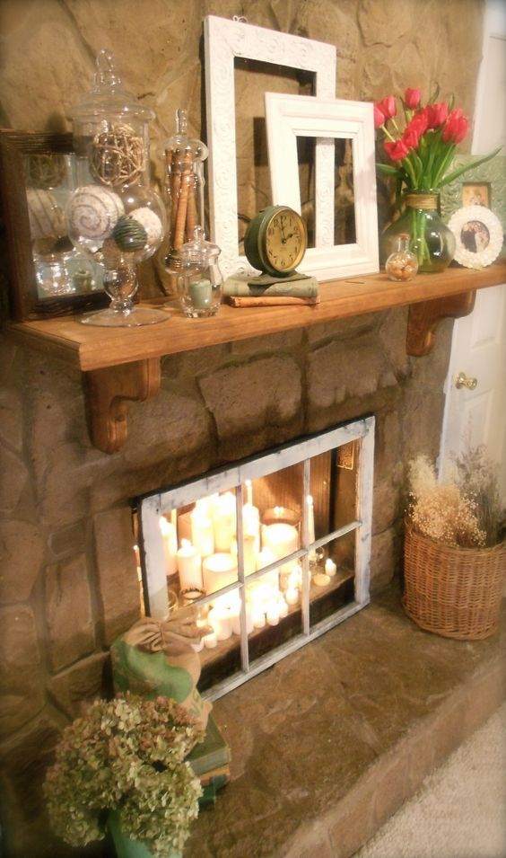 11 Fantastic Ideas for Decorating An Unused Fireplace