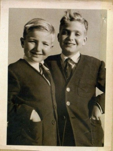 Infante Alfonso, left, and Infante Juan Carlos, the 2 sons of Juan, Infante of Spain and Count of Barcelona. At 14 Alfonso was tragically killed in an accidental shooting whose circumstances are still controversial to this day. Juan Carlos, who was with Alfonso when the shooting occurred, was very close to his younger brother and reportedly never completely got over his death.