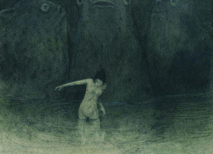 Gemälde von Alfred Kubin Der Sumpf ...