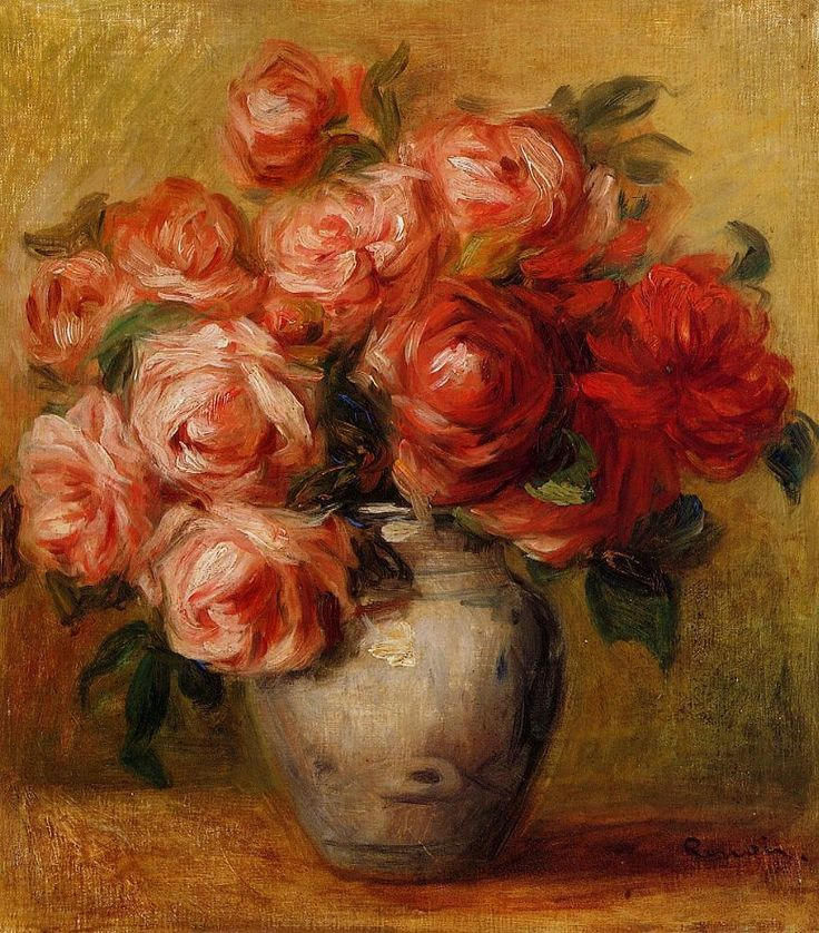 P-A Renoir Still Life with Roses- Wow, a still life of roses that I actually like, a lot!