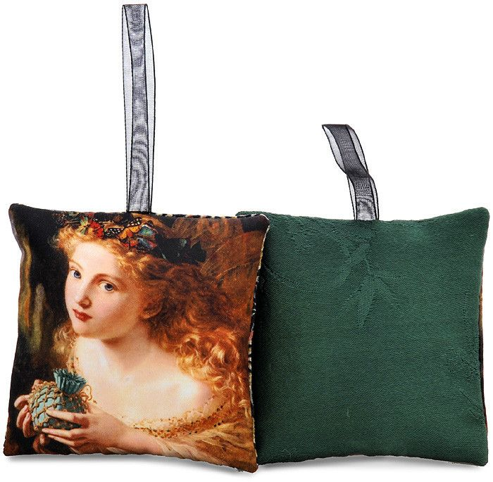 The Fair Face — Sophie Anderson fairytale printed sachet with vintage forest green kimono