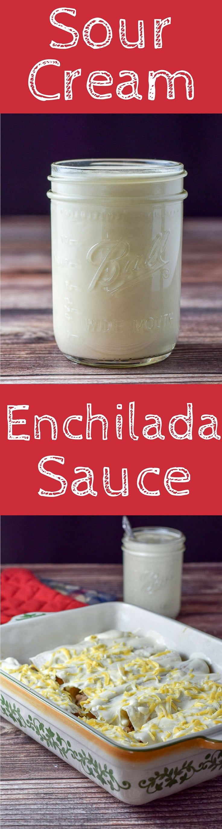 Sour Cream Enchilada Sauce is not only easy to make but it is delicious and versatile!! Drape it on enchiladas, on veggies, on pasta or eat by the spoon. I dare you! http://ddel.co/sc-ench-sauce via @dishesdelish
